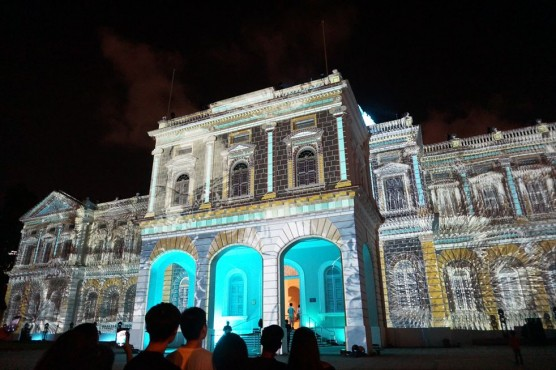 シンガポール national museum プロジェクションマッピング ナイトフェスティバル 2017