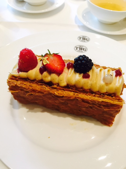 シンガポール TWG ケーキ ミルフィーユ